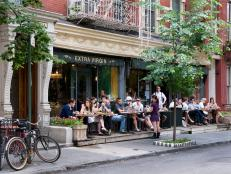 dining al fresco, West Village, New York City