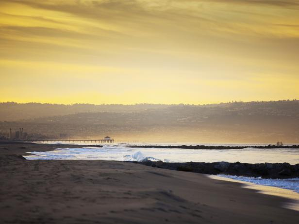 Dockweiler Beach, sunset, Los Angeles, California