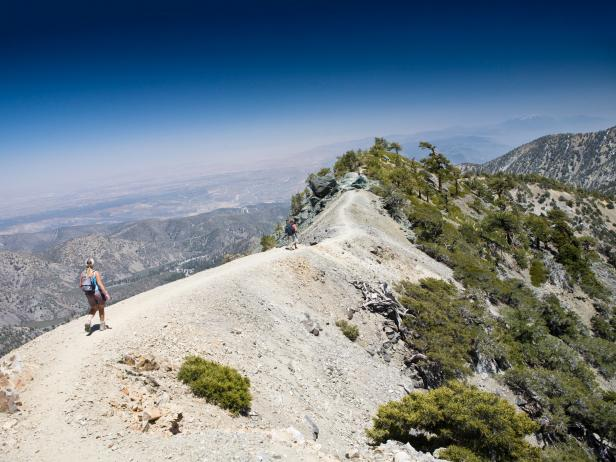hiking, Mount Baldy, Los Angeles, California