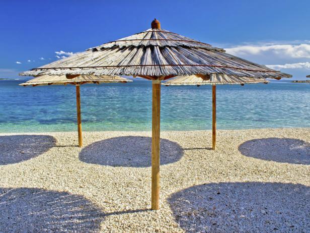 Zrce Beach, Pag Island, Croatia