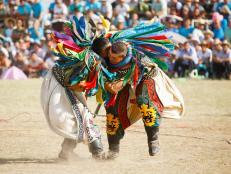 Naadam Festival, wrestlers, Mongolia