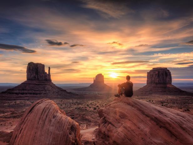 Monument Valley National Park, sunset, Utah, Arizona