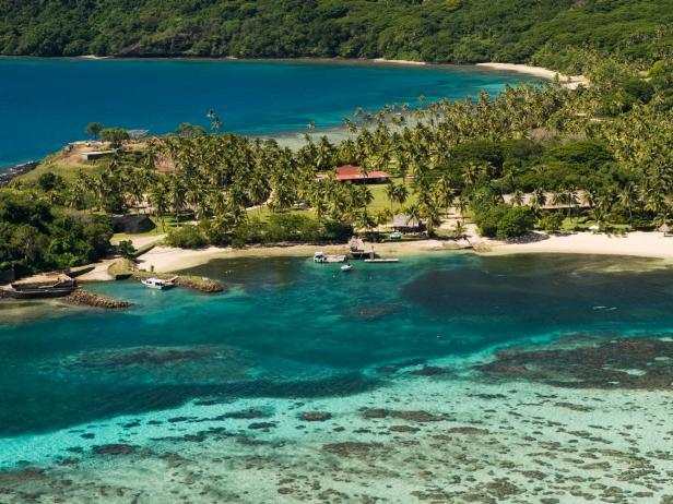 The Wakaya Club & Spa, aerial, view, Fiji