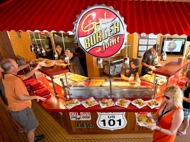 Carnival Breeze, cruise ship, Guys Burger Joint