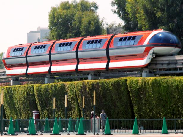 Disneyland monorail in Anaheim California daytime