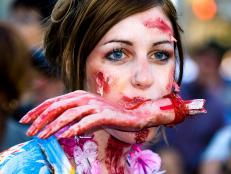 toronto zombie walk, haunted, person, canada