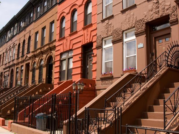 Side view of Brooklyn Brownstones