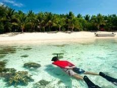 fiji, snorkeling, beach, coral, island