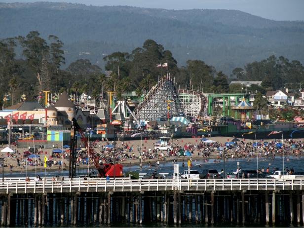 Pier and Boardwalk in Santa Cruz, CA