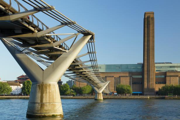 Tate Modern Museum and Millennium Bridge