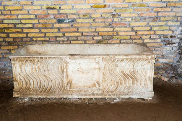 Marble Sarcophagus in Trastevere