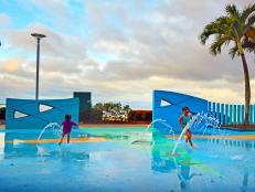 Kids at a Splash Park