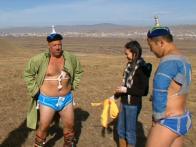 Andrew Wrestles in Mongolia