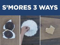 Campfire S'mores 3 Ways
