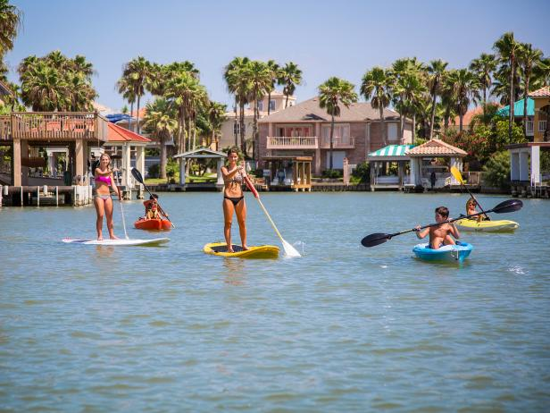 Paddle Boarding, South Padre Island