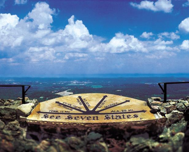 See Seven States Marker, Lookout Mountain