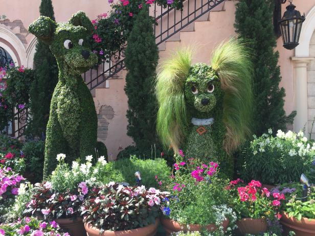 Lady and The Tramp Topiaries