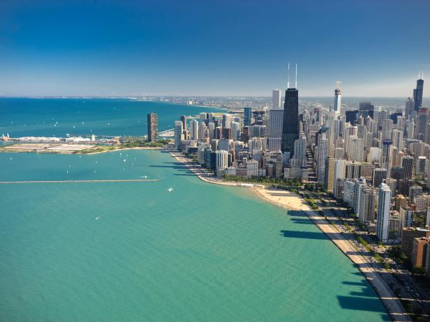Aerial View of Chicago's Shoreline