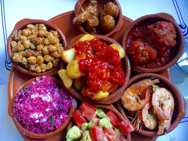 Tapas in Andalusia, Spain.