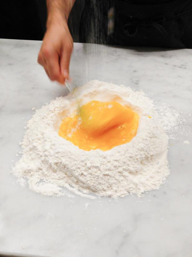 Egg and Flour for Fresh Pasta at Rome Cooking Class