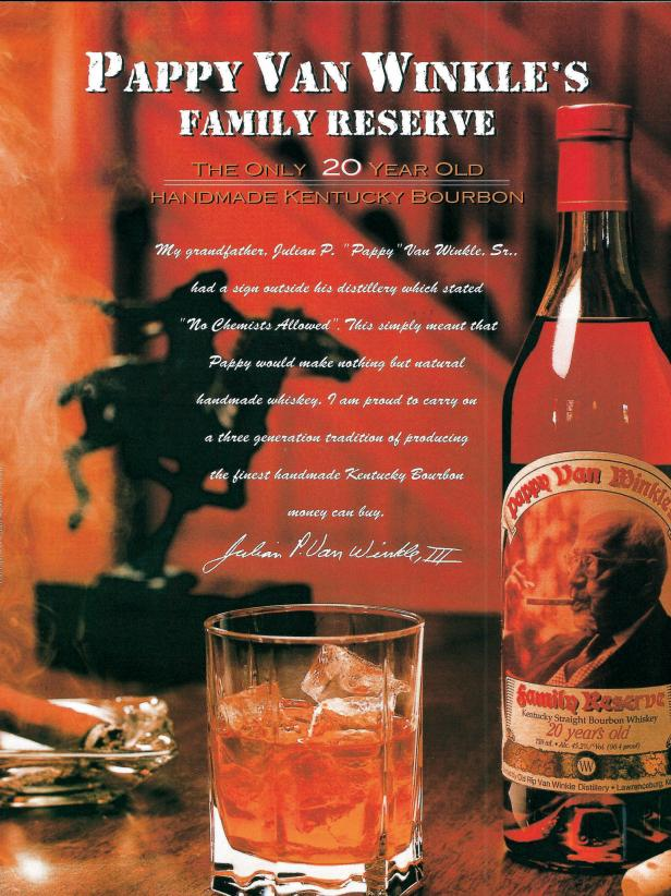 Pappy Van Winkle's Family Reserve Ad