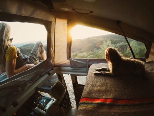 Traveling by Van: Enjoying the Sunset With Max