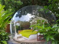A clear dome at Le Domaine Des Bulles in Martinique