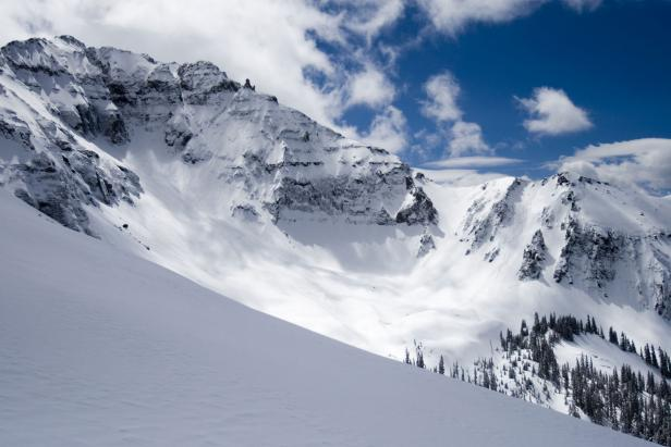 Backcountry snow bowl near Telluride, Colorado