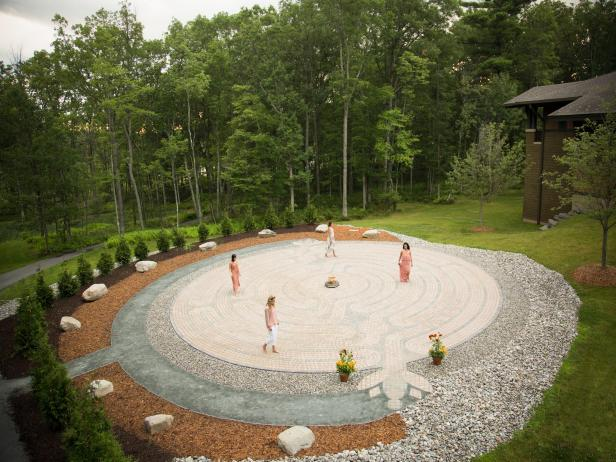 Meditation labyrinth at The Lodge at Woodloch in Pennsylvania