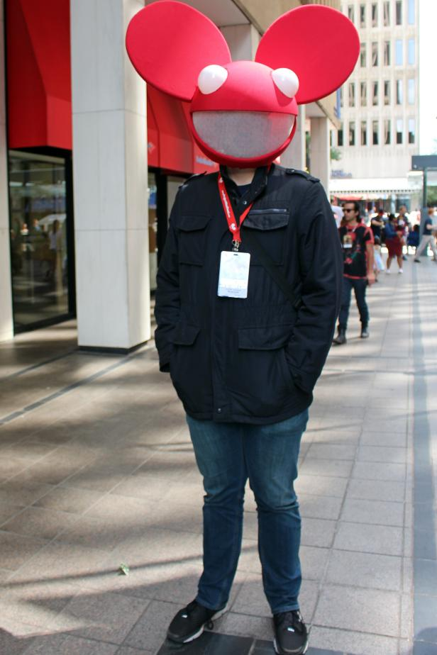 Dragon Con Attendee Dressed as DJ Deadmau5