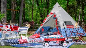 Easy Breezy Backyard Camping Party