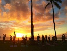 Sunset Yoga in Hawaii