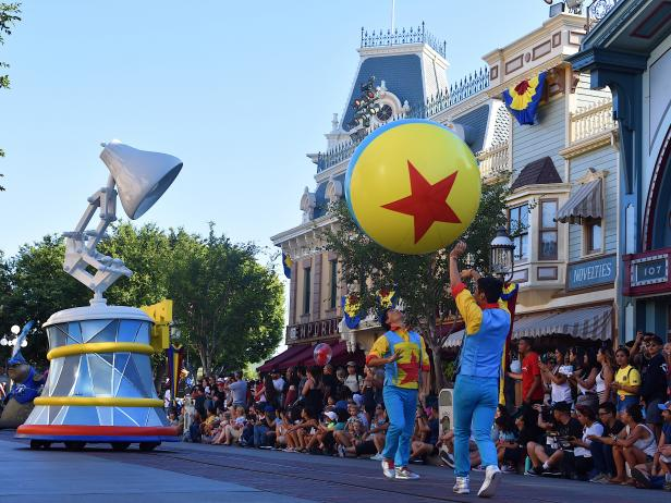 Lamplight Float at Pixar Play Parade