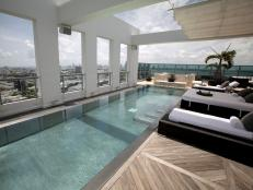 Penthouse deck pool at the Setai in South Beach