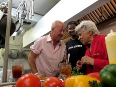 Andrew Zimmern and Creole Chef Leah Chase