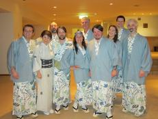 Tony Bourdain and the crew in Japan