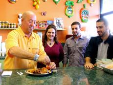 Andrew Zimmern at the Nicaraguan restaurant Fritanga Montelimar in Miami