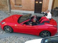 Tony in a Ferrari