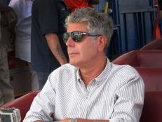 Tony Bourdain on the rollercoaster Cyclone on Coney Island