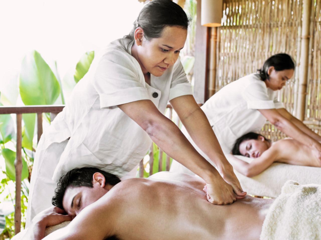 guy undresses for a sensual massage