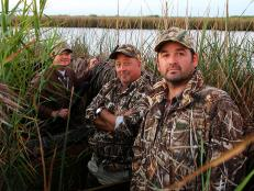 Andrew Zimmern on a duck hunt in Houston