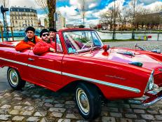 Cruising Around Paris in an Amphicar