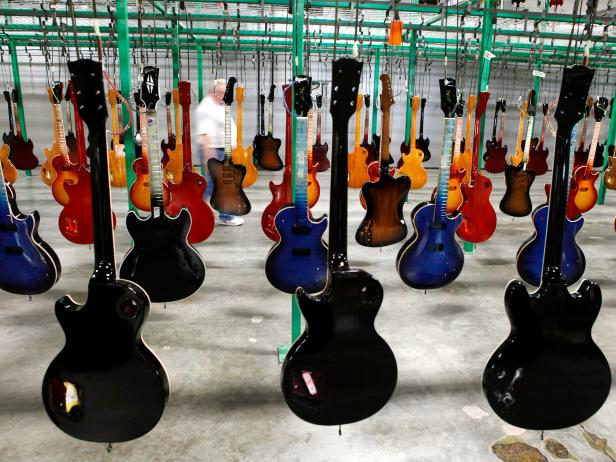 gibson, guitars, factory, nashville, tennessee