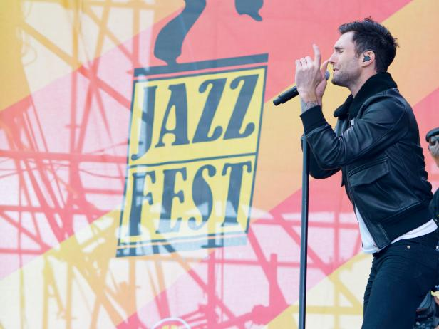 adam levine, maroon 5, jazz and heritage festival, spring, new orleans