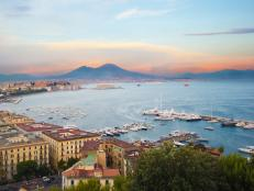 gulf of naples, mount vesuvius, naples, italy