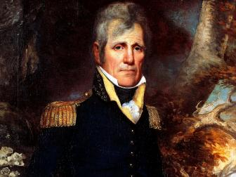 portrait, andrew jackson, general's uniform, seventh president of the united states of america, painting