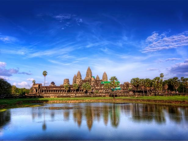 angkor wat, temple, reflection, siem reap, cambodia