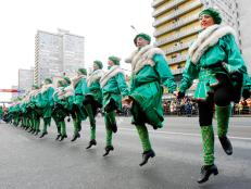 dancers, saint patricks day, parade, moscow, russia