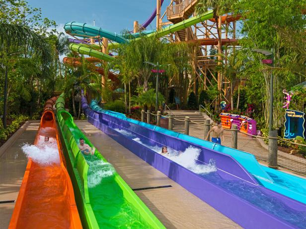 Aquatica SeaWorld, Breakaway Falls, water slide, Orlando, Florida