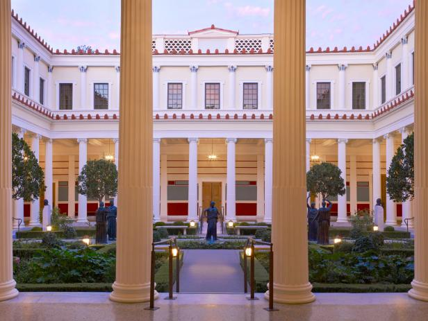 Getty Villa, courtyard, Los Angeles, California